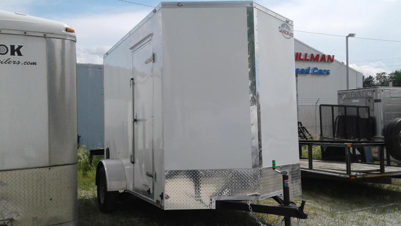 "2020 6x10 SA Cargo Mate EHW610SA Enclosed Cargo Trailer - Ramp Door - 12"" Additional Height (GVW:  2990)"