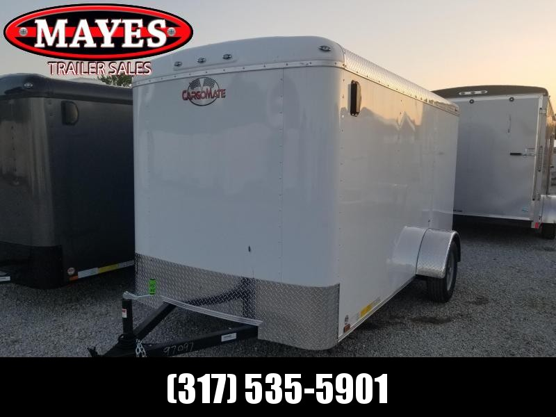 "2019 6x12 Cargo Mate BL612SA Enclosed Cargo Trailer - White (RD)(GVW: 2990)(6"" Extra Height)"