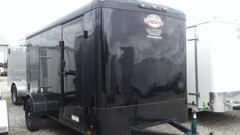 2020 6x12 SA Cargo Mate BL612SA Enclosed Cargo Trailer - Ramp Door - Black Out Package (GVW:  2990)