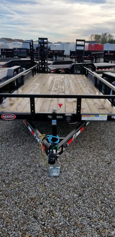"2019 83x20(18+2' Dovetail) PJ Trailers CE 5"" Channel Equipment Trailer - w/ 4' HD Heavy Duty Gate (GVW: 9899)(2x2 Sqaure Tube Siderails)"