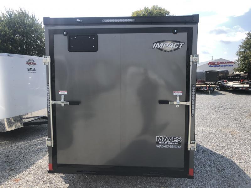 2019 6x12 Impact Trailers ITB612SA Enclosed Cargo Trailer - Ramp Door - Char. Gray - (GVW:  2990#)