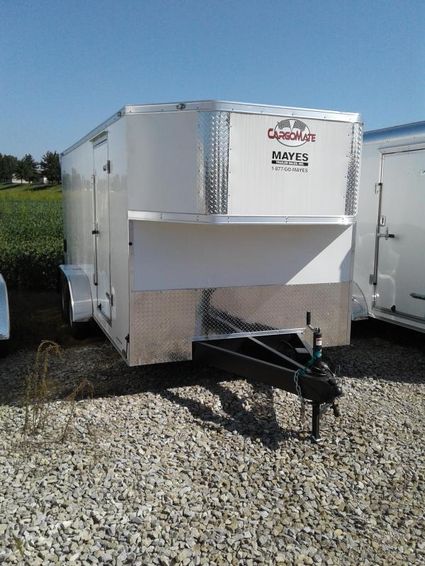 2019 7x16 Cargo Mate EHW716TA2 Enclosed Cargo Trailer - White (RD)(GVW: 7000) *Top Taper Only* *Rear Wing w/ Light*