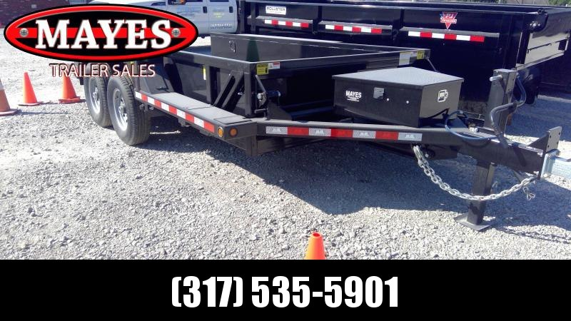 2020 B-B 76x14 TA HDT1414E Equipment Trailer - Drop Down Trailer - 2' Sides (GVW:  14000)
