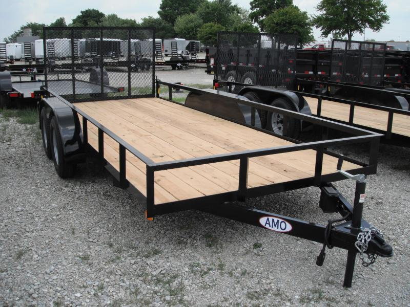 2018 76x18 American Manufacturing Operations AL18TTBBN Utility Trailer - w/ 4' Gate (GVW: 7000)