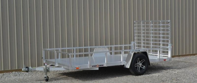 2017 7x12 Sport Haven AUT712D Utility Trailer - DLX w/ 4' Gate(GVW: 2990)