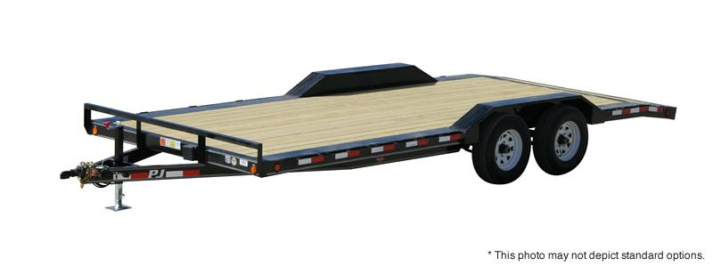 2020 20' (18+2) Buggy Hauler PJ Trailers B5202  - Steel Floor - Slide In Ramps (GVW:  9899)