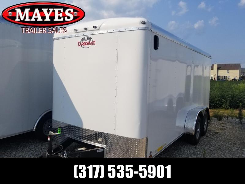 2019 7x16 Cargo Mate BL716TA3 Enclosed Cargo Trailer - White (DD)(GVW: 9800)