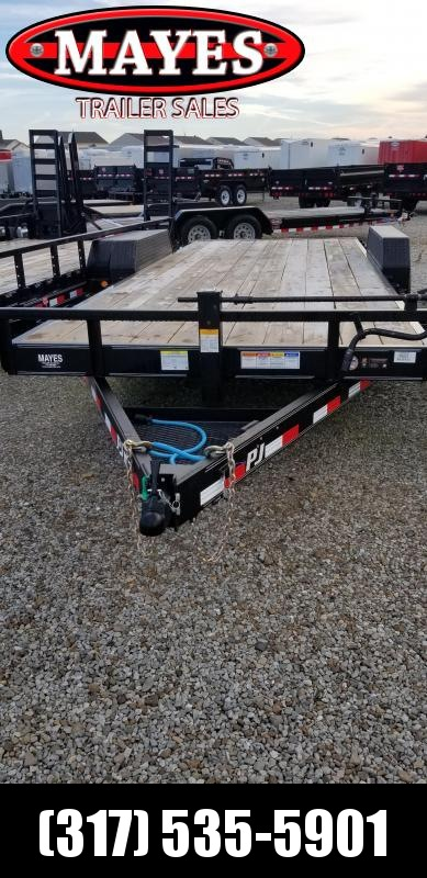 "2019 83x20 PJ Trailers 6"" Channel CC Equipment Trailer - Straight Deck w/ 5' Slide-in Ramps (GVW: 14000)"