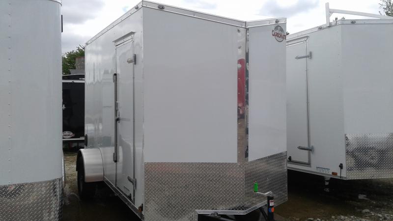 2020 6x12 SA Cargo Mate EHW612SA Enclosed Cargo Trailer - Ramp Door - 12