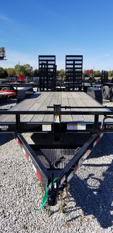 "2019 83x20(18+2' Dovetail) PJ Trailers CC 6"" Channel Equipment Trailer - w/ 31x66 HD Fold-up Ramps (GVW: 14000)"