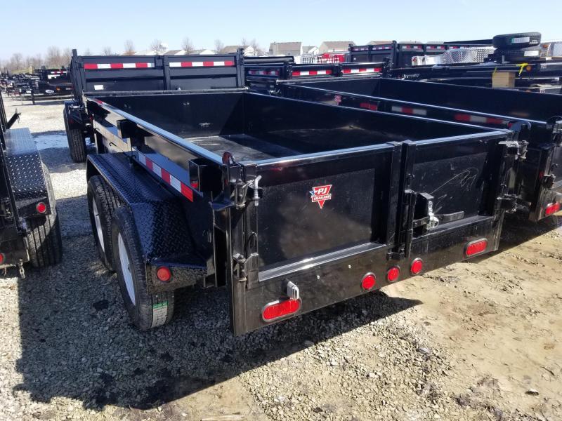 "2019 60""x10' TA Dump PJ Trailers D5102 Dump Trailer - Split Gate - Tarp Kit (GVW:  7000)"