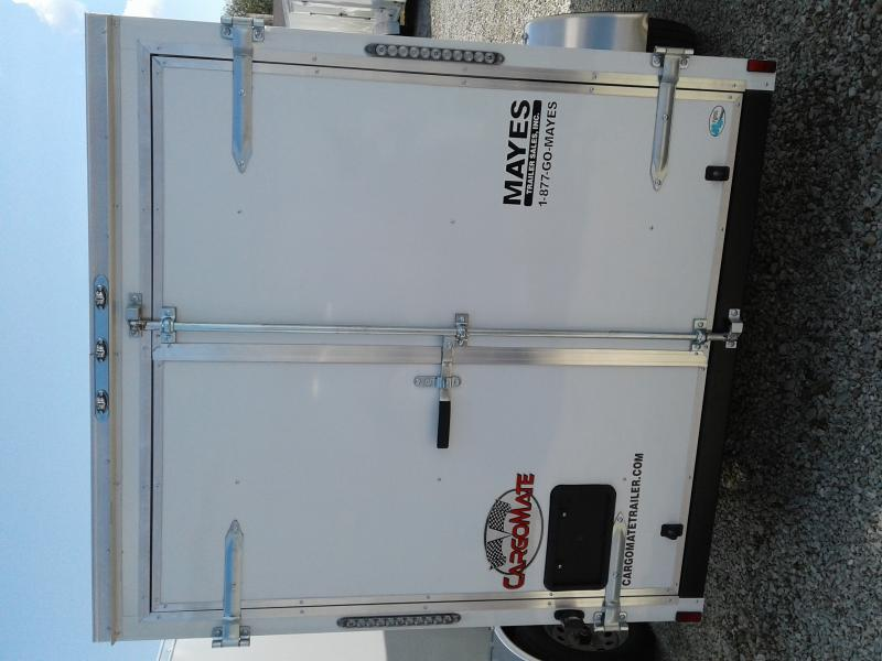 "2019 6x12 Cargo Mate SS612SA Enclosed Cargo Trailer - White (DD)(6"" Extra Height)"