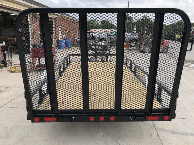 2020 72x12 SA PJ Trailers U2121 Utility Trailer - Straight Deck - 4 Foot Fold Up Gate (GVW:  2995)
