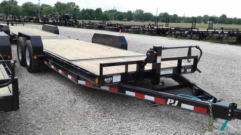 2020 83X20 (16+4) TA PJ Trailers T6202 Equipment Trailer - Spare Tire MOUNT ONLY - Torsion (GVW:  14000)