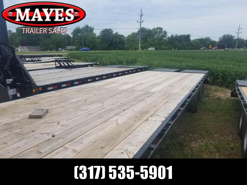 2018 102x32(27+5' Dovetail) Load Trail GH32 Flatbed Trailer - w/ Max Ramps (GVW: 24000) gooseneck