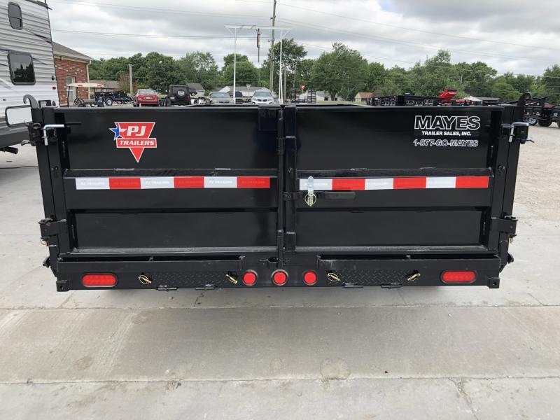 2020 83x14 TA Low Pro PJ Trailers DL142 Dump Trailer - Split/Spread Gate (GVW:  14000)