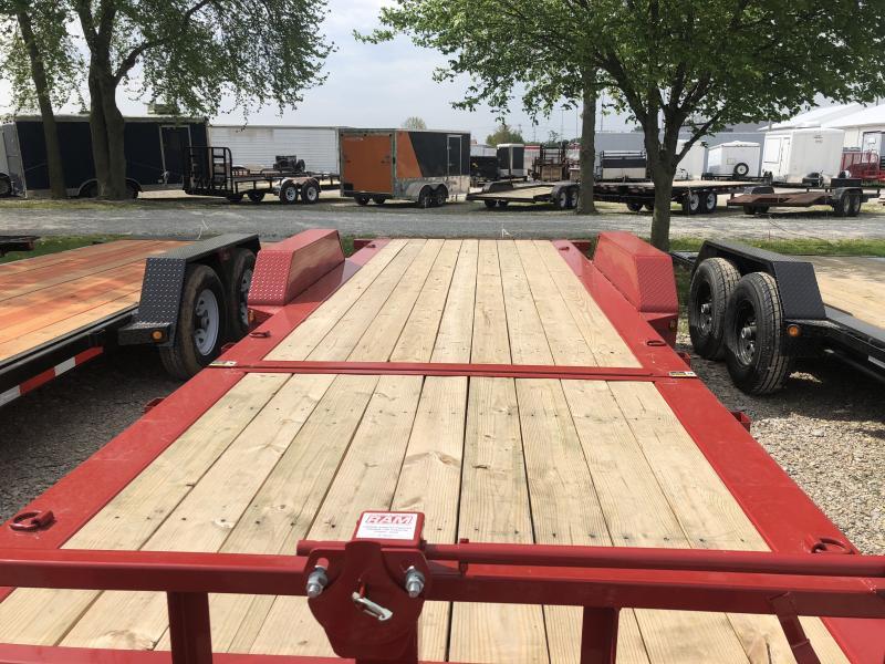 2018 83x22(16' Tilt + 6' Stationary) Tilt-N-Go Load Trail TH Equipment Trailer - (GVW: 14000) *Red Powdercoat*