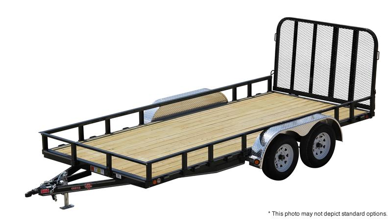 2020 83x12 PJ Trailers U8 Sngl Axle Channel Utility Trailer - Straight Deck w/ 4' Fold-up Gate (GVW: 2995)
