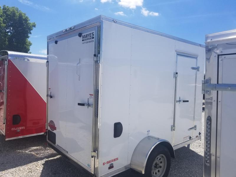 "2019 6x10 Cargo Mate EHW610SA Enclosed Cargo Trailer - White (RD)(GVW: 2990)(12"" Extra Height)"
