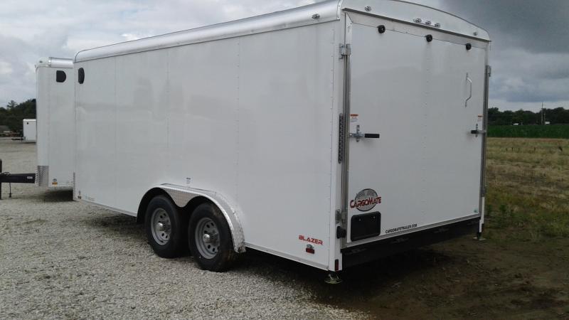 2020 8x16 TA Cargo Mate BL816TA3 Enclosed Cargo Trailer - Ramp Door - Torsion - 54 Inch Ext. Tongue (GVW:  9800)