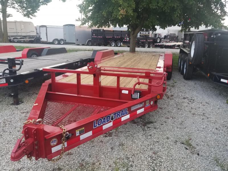 2019 83x22(16' Tilt + 6' Stationary) Load Trail TD22 Tilt-n-go Tandem Axle Equipment Trailer - (GVW: 14000) *Red Powdercoat*