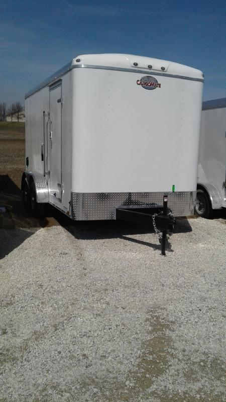 "2020 7x14 Cargo Mate BL714TA3 Enclosed Cargo Trailer - Ramp Door - 6"" Additional Height (GVW:  9800)"
