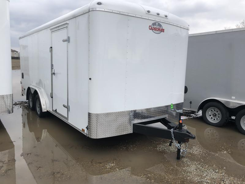 2018 8x18 Cargo Mate BL818TA2 Enclosed Cargo Trailer - Polar White (DD)(GVW: 7000)