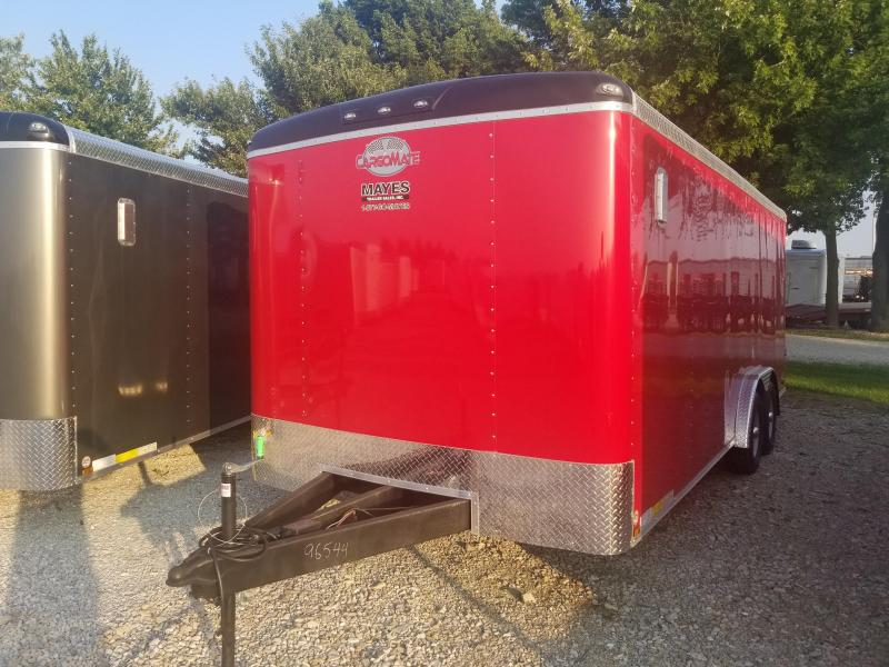 2019 8x20 Cargo Mate BL820TA3 Enclosed Cargo Trailer - Red (RD)(GVW: 9800)