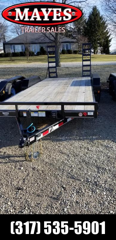 "2019 83X20 PJ Trailers CE202 Equipment Trailer - Fold Up Ramps - 5"" Channel (GVW:  9899)"