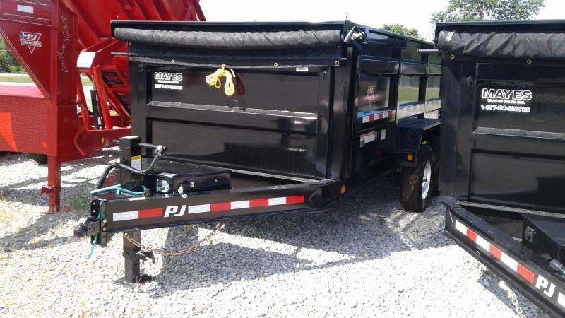 2020 83x14 Low Pro High Side TA PJ Trailers DM142 Dump Trailer - Split/Spread Gate - Tarp Kit (GVW:  14000)