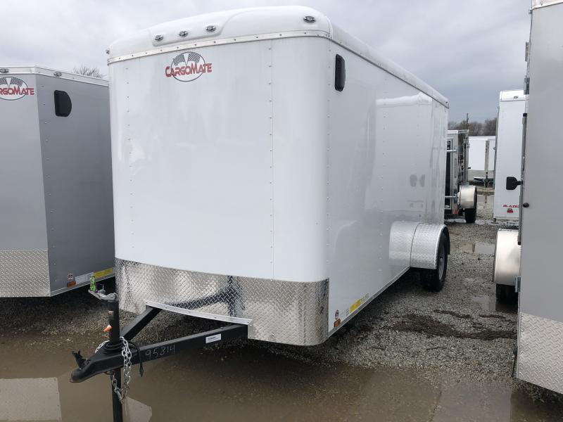 """2019 6x14 Cargo Mate BL614SA Enclosed Cargo Trailer - Polar White (RD)(GVW: 2990)(6"""" Extra Height)"""