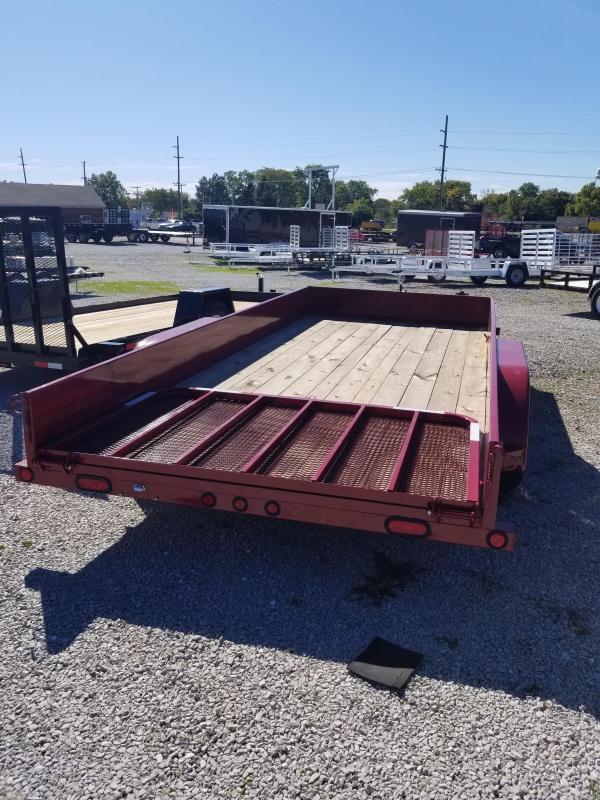 2018 83x16 Load Trail US83 Utility Trailer - w/ 4' Fold-up Gate (GVW: 7000) *Aggie Maroon Powdercoat*