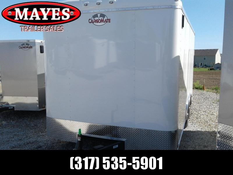 "2019 102x16 Cargo Mate BL816TA3 Enclosed Cargo Trailer - Polar White (RD)(GVW: 9800)(12"" Extra Height)"