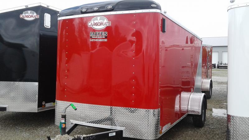 2020 6x12 SA Cargo Mate BL612SA Enclosed Cargo Trailer - Ramp Door - Two/Tone (GVW:  2990)