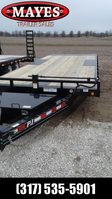 """2019 102""""x22' Deckover Tilt PJ Trailers T8222 Equipment Trailer - Full Tilt - Winch Plate (GVW:  14000)"""