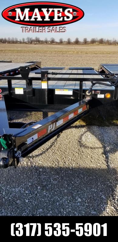 "2019 96x20 (16+4) Deckover PJ Trailers F8202 Equipment Trailer - 8"" I-Beam Deckover (GVW:  14000)"