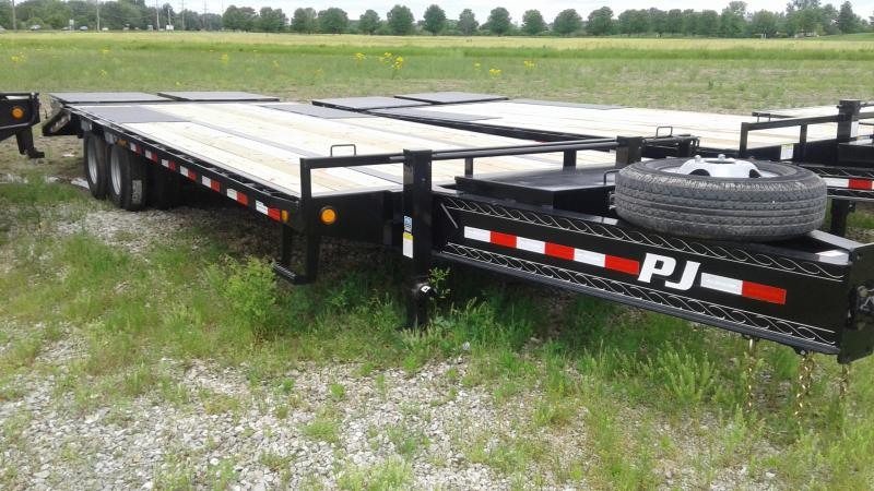 2020 102x25(20+5) PJ Trailers 25' Low-Pro Pintle with Duals Trailer - Pintle - Monster Ramps (GVW:  25000)