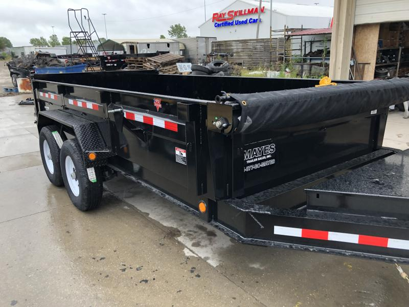 2020 83x14 TA Low Pro PJ Trailers DL142 Dump Trailer - Split Spread Gate - Divided Tool Box - Jack Upgrade - Tarp Kit (GVW:  14000)