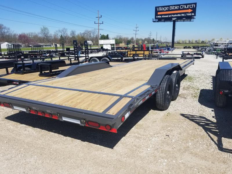 2018 102x24(22+2' Dovetail) Load Trail CH Equipment Trailer - 5' Rear Slide-in Ramps (GVW: 14000) *Drive-over Fenders*