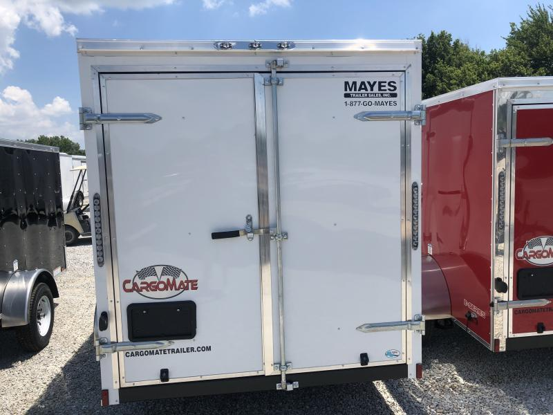 "2019 6x10 Cargo Mate SS610SA Enclosed Cargo Trailer - White (DD)(GVW: 2990)(6"" Extra Height)"