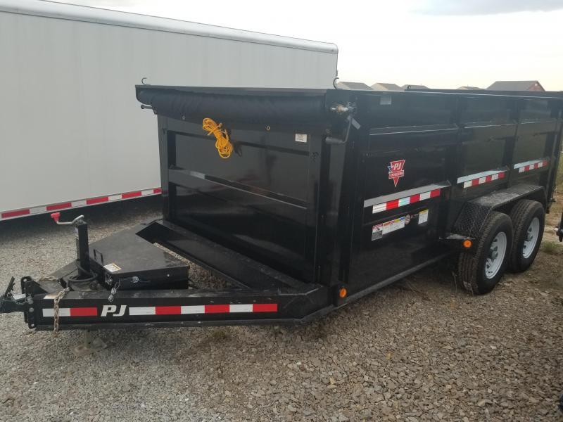 "2019 83x14 PJ Trailers DM 83"" Low Pro High Side Dump Trailer - (Split/Spreader Gate)(Tarp Kit)(GVW: 14000)"