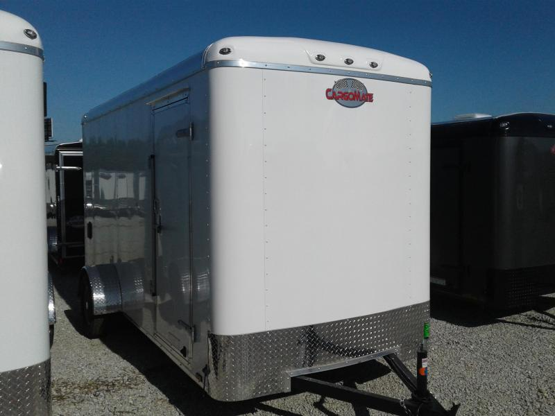 "2019 6x14 Cargo Mate BL614SA Enclosed Cargo Trailer - Polar White (RD)(GVW: 2990)(12"" Extra Height)"