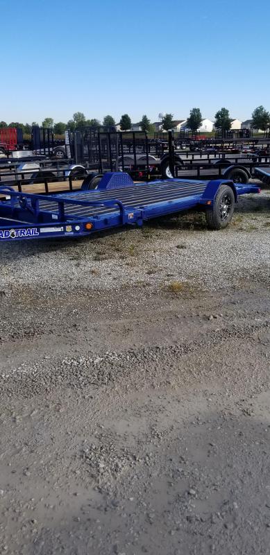 2019 83x15 Load Trail TD15 Equipment Tilt Trailer - (GVW: 7000) *Navy Blue*
