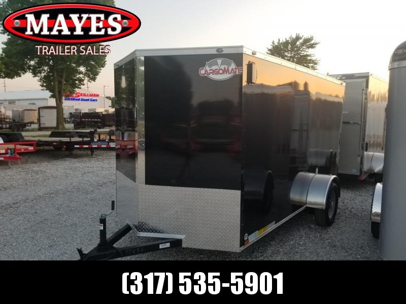 2019 6x12 Cargo Mate EHW612SA Enclosed Cargo Trailer - Black (RD)(GVW: 2990)