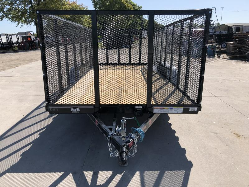 2020 83x16 TA PJ Trailers UL162 Utility Trailer - Straight Deck - 4 Foot Expanded Metal Sides (GVW:  7000)