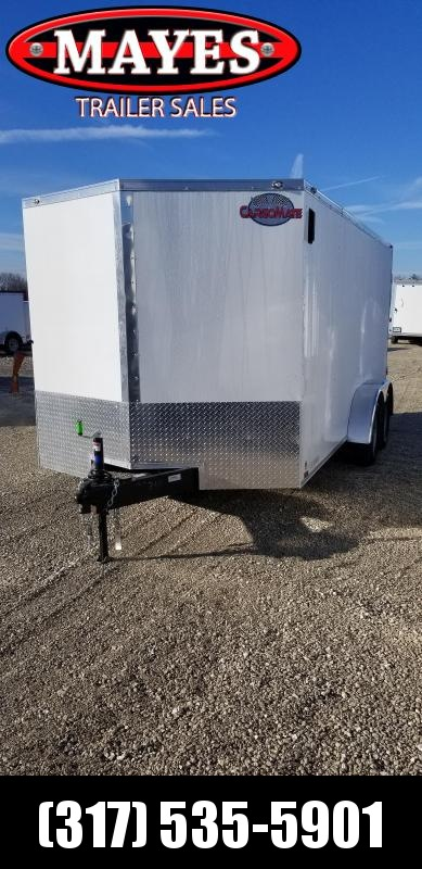 2019 7x16 Cargo Mate EHW716TA2 Enclosed Cargo Trailer - Double Door (GVW:  7000)