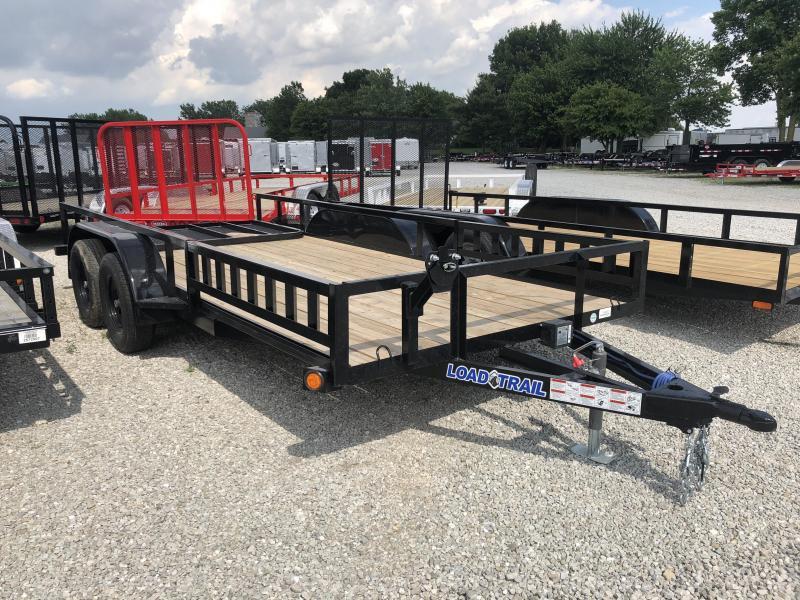 2018 77x16 Load Trail UE77 Utility Trailer - w/ 4' Fold-up Gate (GVW: 7000)(ATV Ramps)