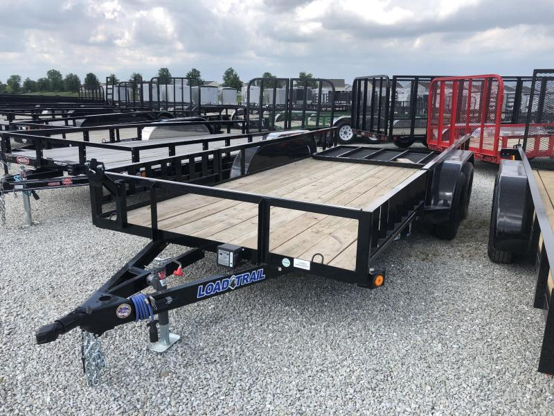 2018 77x16 Load Trail UE77 Utility Trailer - w/ 4' Fold-up Gate (GVW: 7000)(ATV Ramps)