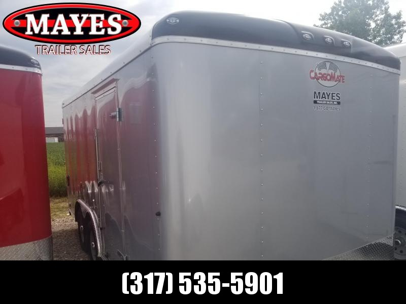 "2019 8x16 Cargo Mate BL816TA3 Enclosed Cargo Trailer - Diamond Ice (RD)(GVW: 9800)(6"" Extra Height)"