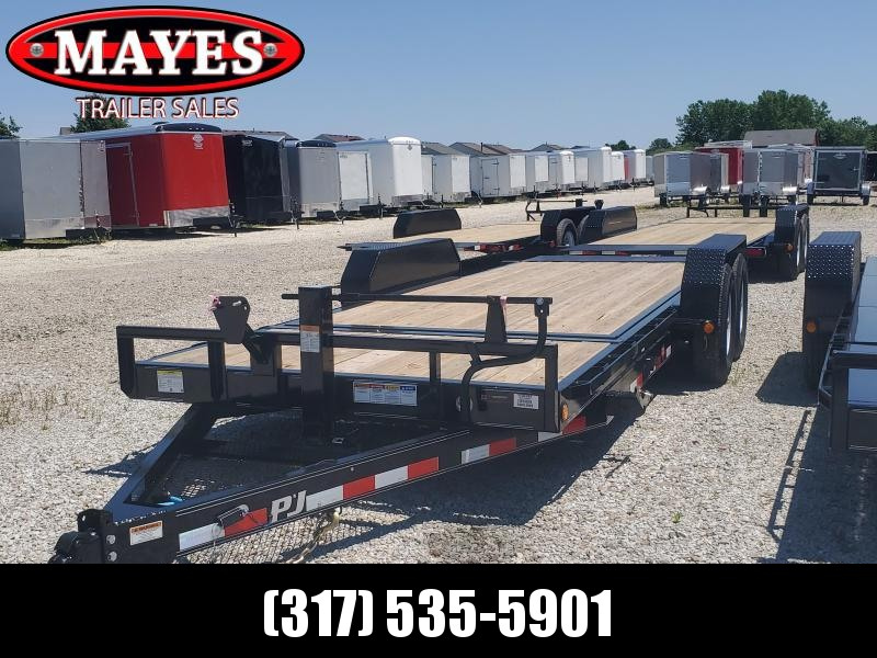 "2020 83x20 (4+16) TA Tilt PJ Trailers 20'x6"" Channel Equipment Tilt Trailer - Torsion (GVW:  14000)"